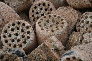 briqueta cilindrica de madera